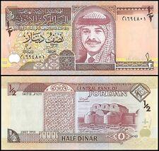Jordan 1/2 Dinar, 1997, P-28b, UNC, 5th Issue