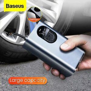 Baseus Car Tire Air Compressor Inflator Pump LED Lamp For Car Motorcycle Bicycle