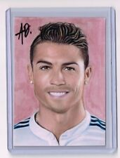 2017 ACEO Sketch Card CRISTIANO RONALDO World Cup FIFA 1/1