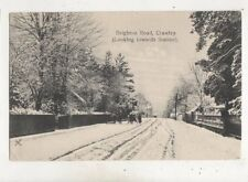 Brighton Road Crawley Looking Towards Station Sussex 1907 Postcard Snow  649b
