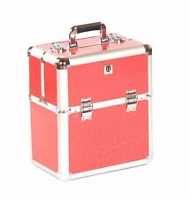 Urbanity nail polish storage case beauty cosmetic makeup box hard vanity Pink