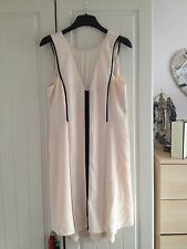 Warehouse Pale Pink & Black with Mesh Insert Dress - UK Size 12 - Only Worn Once