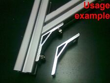 Aluminum T-slot 40x40 profile 135 deg corner support connector bracket, 4-set