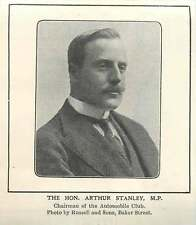 1905 The Honourable Arthur Stanley Mp Chairman Of The Automobile Club