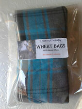 Turquoise Tartan Lavender and Wheat Bags Microwave Heated Pain Relief
