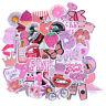 50Pcs Cartoon Pink Girls Stickers DIY Suitcase Laptop Guitar Bicycle Car Dec INY