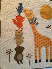 New ListingLand Of Nod Woodland Animal Baby Nursery Crib Bedding Quilt and Bottom Sheet