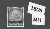 1940 Stamp / MH PF04 / Luxembourg Overprint Hindenburg  / German Occupation WWII