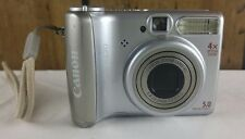Canon PowerShot A530 Digital Camera 5.0 Megapixel 4x Zoom Silver Tested