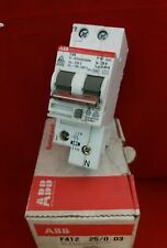 ABB F412 25A 25AMP 30MA DOUBLE POLE DP 2P RCD SWITCH NEW