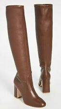 $765 size 5.5 Stuart Weitzman Milla Stretch Coffee napa Leather Knee Boots heels