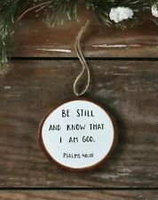 Personalized Christmas Ornament Bible Verse Romans 8:28 Hand Painted Wood Slice