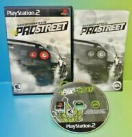 Need For Speed Pro Street Racing Playstation 2 PS2 Game Rare Complete Tested `