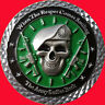 "2"" US ARMY SMILING REAPER CHALLENGE COIN NON MSG CPO  14"