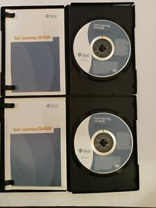 Lot of 2 Sun Microsystems Solaris 9 Operating Environment Intermediate & Advance