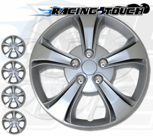"4pcs Set 17"" Inches Metallic Silver Hubcaps Wheel Cover Rim Skin Hub Cap #616"