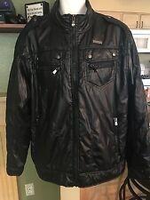 Mens South Pole Black Puffy Jacket Lightweight Size XXL