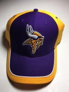 Minnesota Vikings Cap Purple Yellow NFL Team Apparel Hat Embroidered Logo