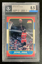 1986 Fleer #57 MICHAEL JORDAN RC Rookie Card BGS 8.5 NM/MINT (9 8.5 8) FL Pickup