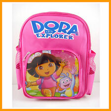 "Dora the Explorer Boots The Monkey Pink Mini 9"" School Backpack Bag + CHARM"