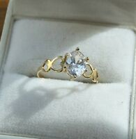 9 Carat Gold Solitaire Stone Ring - Size O