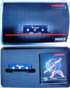 Marklin Z Scale 98065 M/M 1606 Blausiegel Condom Container Car Original Box  C9
