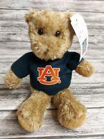 "New Plushland Auburn University Brown Teddy Bear with Sweater NWT 8"""