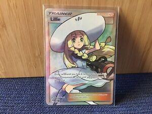 Pokemon Card Trainer Lillie Ultra Rare 147/149 Sun and Moon TCG NM
