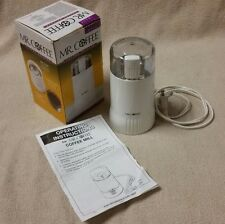 MR. COFFEE IDS55 White Electric Coffee Bean Grinder Mill w/ Box & Instructions