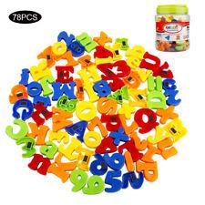 78Stk Magnet Buchstaben Zahlen Symbole ABC Alphabet Kinder Magnettafel Spielzeug