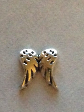** Silvertone Angel Wings ** Floating Charm For Living Memory Lockets~BEAUTIFUL~