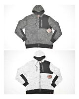 NWT Mens Mecca Contrast Diamond Quilted Marled Fleece Zip Hoodie Sweatshirt N534