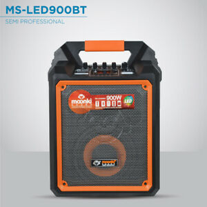 """Portable Bluetooth 900W Speaker w/ 6.5"""" Woofer Rechargeable Battery SD Card"""