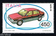 ITALIA 1 FRANCOBOLLO MACCHINA ALFA ROMEO 33 AUTO 1984 nuovo**