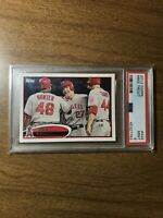 2012 Topps #446 Mike Trout PSA 9 Mint Los Angeles Angels MVP Second Year INVEST