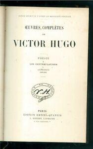 HUGO VICTOR LES CONTEMPLATIONS POESIE HETZEL QUANTIN 1880 OEUVRES COMPLETES