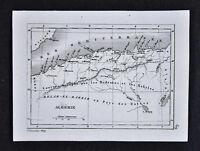 c1835 Levasseur Map - Algerie Algeria Alger Oran Constantine Atlas Mountains
