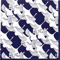 HAMAMONYO Big Furoshiki   'Crane's Celebration'  (90cm × 90cm JP Wrapping Cloth)