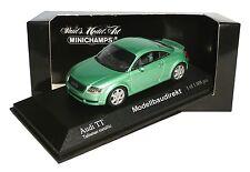 AUDI TT in verde-metallico BJ 2000 1:43 Minichamps 430017251 NUOVO & OVP