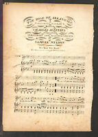 ROSE OF ALLANDALE ca 1835 Thos Birch Edition Antique Sheet Music
