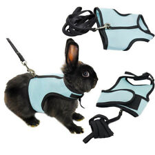 Hamster Rabbit Squirrel Cat Guinea Pig Mesh Harness Leash Lead Vest Suit Blue