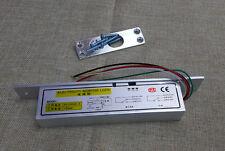 Electric Bolt drop door lock 5 cable Access Control Wood Glass Door timer delay