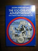 THE 100 GREATEST ADVERTISEMENTS (1959) Who Wrote Them Watkins Dover SOFTCOVER