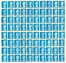 GB 100+ 2nd CLASS SECURITY STAMPS £66 FACE VALUE UNFRANKED OFF PAPER WITH GUM.