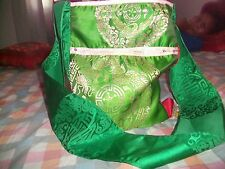 UNIQUE LADIES WOMENS GIRLS FUNKY FESTIVAL BEACH, GREEN AND LIME COLOUR HAND BAG