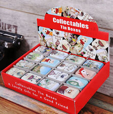 New cat & scenes Style Small Tin Secret Storage Box Little Candy,16 styles, no4