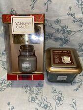 Nuevo Conjunto de regalo de Tarro de Yankee Candle pequeñas y medianas Esmerilado Vela de elevación de abeto