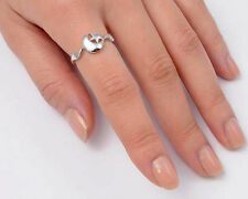 USA Seller Moon & Star Ring Sterling Silver 925 Best Deal Plain Jewelry Size 6