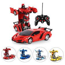 RC Transformer Spielzeug Rennauto Roboter  Fernbedienung kinder Wagen Geschenk