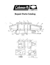 COLEMAN Popup Trailer Repair Parts Catalog-1989 Plantation Series